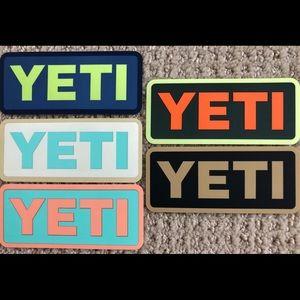Yeti Stickers-Pack of 5